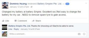Car Battery Facebook Reviews