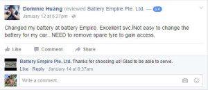 Car Battery Facebook Reviews